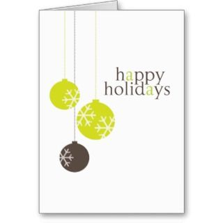 Retro Modern Holiday Ornaments Christmas Card