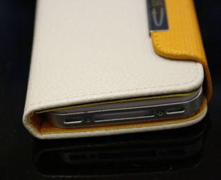 4S Portmonee Portemonnaie Echtes Leder Tasche Hülle Wallet Case #372