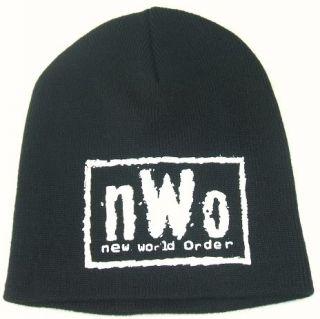 nWo New World Order White Logo WCW Beanie Cap Hat NEW Adult Size