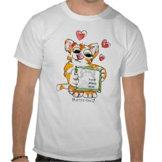 Love Cat Heart Custom T Shirt
