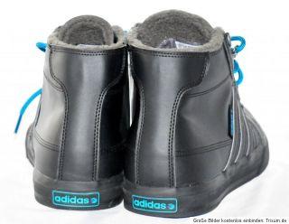 Adidas* Clemente Stripe Hi Neo Label Kollektion Lederimitat Schwarz