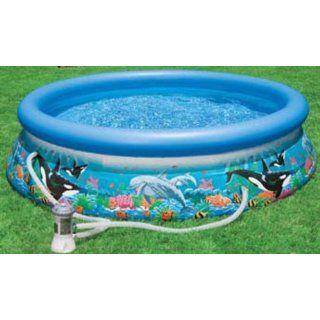 INTEX 54902 EASY SET Oceanreef Pool mit Filterpumpe 3.05m x 76cm