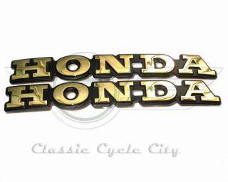 Two genuine Honda fuel tank badges shelter emblems / emblem kit for