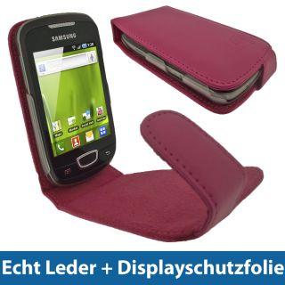 Pink PU Leder Tasche fuer Samsung Galaxy Mini S5570 Handy Schutz