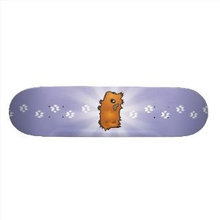 Cartoon Guinea Pig (scruffy) Custom Skate Board