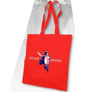 Michael Jackson     King Of Pop Red Tote Totebag In Red
