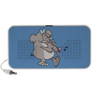 silly trumpet horn elephant tooting trunk iPod speakers