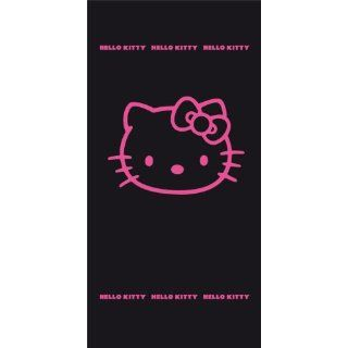 CTI 037716 Strandtuch Hello Kitty Black Fuchsia / 75 x 150 cm