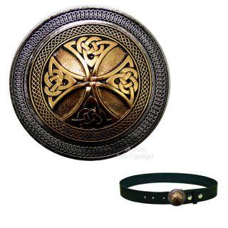 Shield Celtic Cross Gothic Mittelalter Gürtelschnalle *387