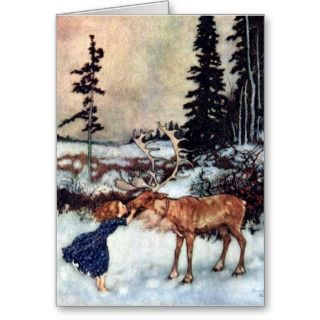 Snow Queen Fairy Tale with Gerda Card