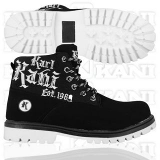 Karl Kani Kg boot Boot Schwarz Weiß (56414)