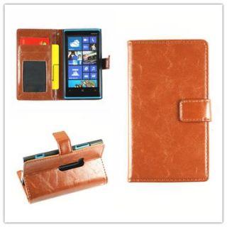 Nokia Lumia 920 Leder Tasche Hülle Etui Schutz Case Handy Cover