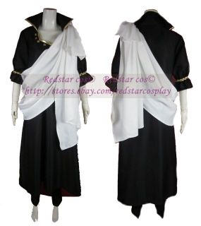 Zeref from Fairy Tail Anime Cosplay Costume   Custom made in Any size