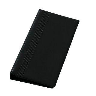 Sigel VZ300 Visitenkarten Ringbuch, einreihig, schwarz, matt, mit 25