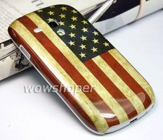 Retro USA Design Hard Skin Case Cover For Samsung Galaxy S3 III Mini
