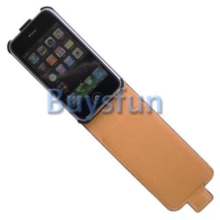 Butterfly Style Flip Vertical Leather Cover Case For Apple iPhone 3G