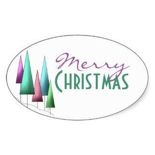 Pegatinas modernos de las Felices Navidad de