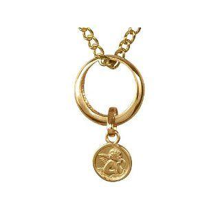 Taufring in Gold mit Goldkette 333er   Taufkette / Taufschmuck mit