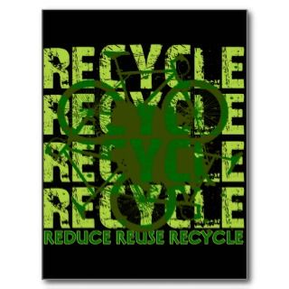 Environmental reCYCLE Postcards