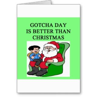 gotcha day adoption christmas idea greeting card