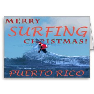 Christmas, at the top and Puerto Rico at the bottom of the card