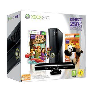 Xbox 360 S 250 GB Kinect Bundle Kung Fu Panda, schwarz matt