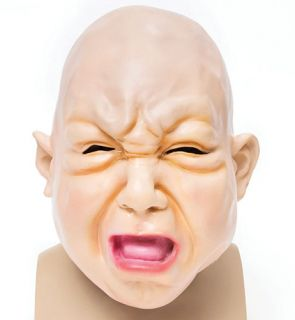 Fat Face Baby Rubber Mask Overhead Scary Halloween Fancy Dress Prop