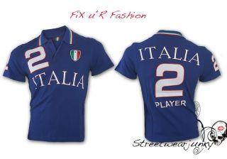 WASABI ITALY Polo Hemd Clubwear T Shirt Maglietta Italia Tee S XL
