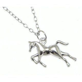 Schöne Silberne Farbe Metall Pferd / Pony Anhänger Auf Verstellbaren