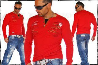 BranDNeW CluBWeaR V Neck Longsleeve Sweat Shirt L 415 ROT