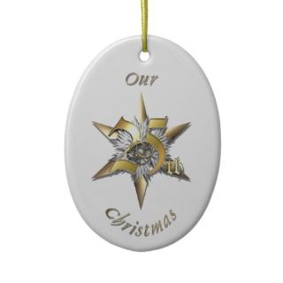 Married 25th Christmas   Ornament