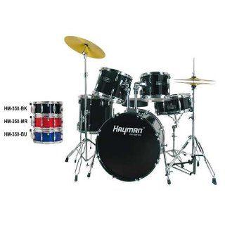 Hayman HM 350 BK Pro Series 20er Drum Set black