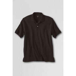 LANDS END Herren Pima Polohemd Poloshirt Shirt Baumwolle dunkelbraun