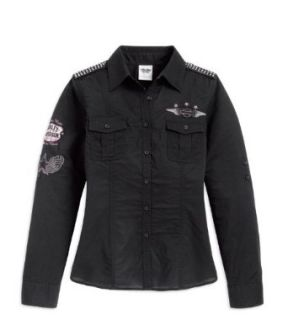 Harley Davidson Bluse Patches 96187 12VW Damen Shirt