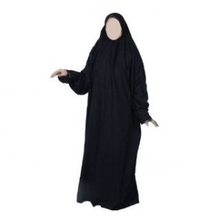 Gebetskleid   SCHWARZ / GOLD   Muslim Jilbab Abaya Khimar Islamische
