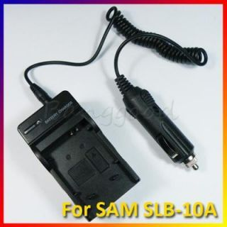 Wall Car Battery Charger Adapter for Samsung SLB 10A SL102 SL310 SL420