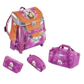 SAMMIES by SAMSONITE   OPTILIGHT SCHULRANZEN SET   PINK HORSE   4 TLG