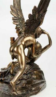 Amor & Psyche nach Canova Kunststein bronziert Akt erotisch Liebespaar