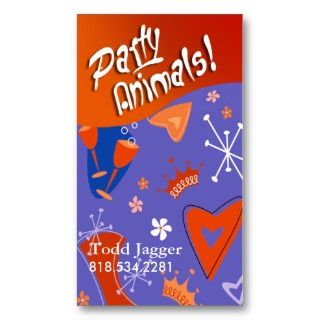 Party Animals   Party Planner, Event Organizer Business Cards