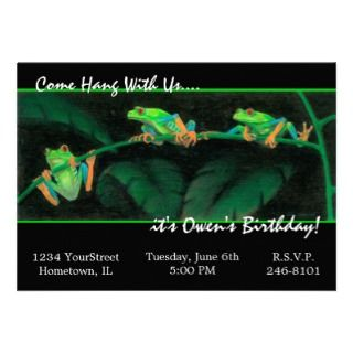 Red Eyed Tree Frogs Custom Announcements