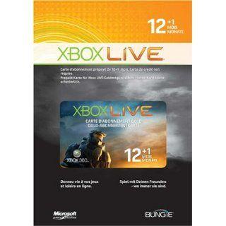 Xbox 360   Live Gold Abonnement Karte 12+1 Monate   Halo Wars Limited