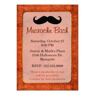 mustache pumpkin host Halloween party Announcement