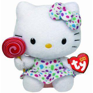 TY 7140961 Hello Kitty Baby Lollipop, Kleid und Schleife, 14 cm, bunt