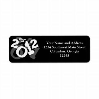 Playful Numbers, Class of 2012 Graduation Design Return Address Label