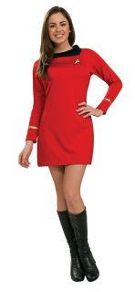 Damen Kostüm Original Star Trek Rotes Uhura Kleid Outfit S