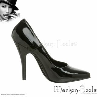 PLEASER ELEGANTE DAMEN CITY HIGH HEEL PUMPS AUS LACK SCHWARZ 35 46
