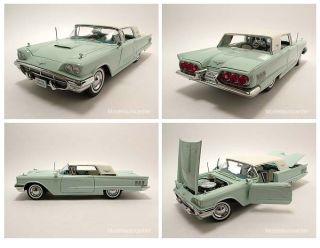 Ford Thunderbird Hard Top 1960 hellblau/weiß, Modellauto 118, Sun