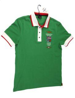 Aeronautica Militare Polo Shirt Polo PO442 grün L Herren NEU
