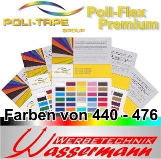Flex Premium, 50cm x 1m, insg. 40 Farben, Farbbereich: 440 476