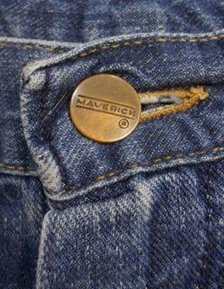 Vintage 60s MAVERICK BLUE BELL Denim EXPOSED Rivets JEAN Shorts 34 F